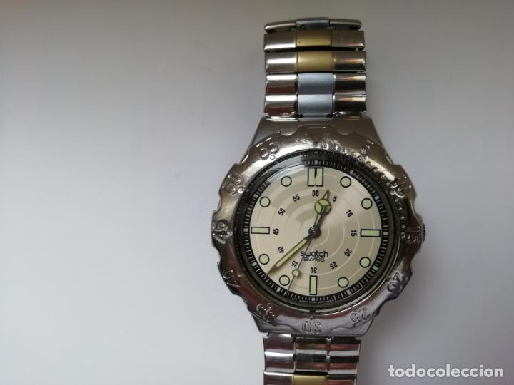 RELOJ DE PULSERA VINTAGE MARCA SWATCH MODELO MERCEDES BENZ 1995. WATERRESISTANT. CORREA ORIGINAL (Relojes - Relojes Actuales - Swatch)