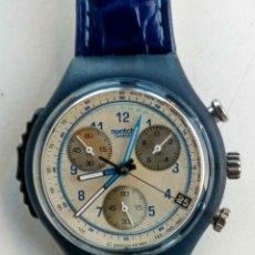 Relojes - Swatch: RELOJ SWATCH. AG. 1997. NUEVO. CUERO AZUL.. Lote 173533978