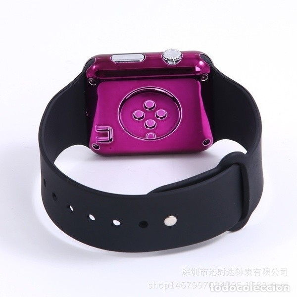 NEW HOT SQUARE MIRROR FACE SILICONE BAND DIGITAL WATCH RED LED WATCHES METAL FRAME WRISTWATCH SPORT (Relojes - Relojes Actuales - Swatch)