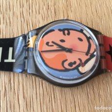 Relojes - Swatch: RELOJ SWATCH EDICIÓN ESPECIAL 75 ANIVERSARIO TINTÍN.. Lote 174413145