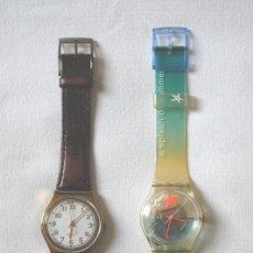 Relojes - Swatch: LOTE DE 2 RELOJES SWATCH VINTAGE DE SEÑORA PARA COLECCIÓN (VER FOTOS ADICIONALES). Lote 175925478