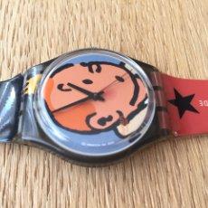 Relojes - Swatch: RELOJ SWATCH TINTÍN 75 ANIVERSARIO SIN CAJA.. Lote 175941793
