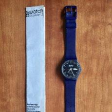Relojes - Swatch: SWATCH GN700 RELOJ DE PULSERA VINTAGE DE 1983 – SUIZO ORIGINAL, DE LA PRIMERA SERIE – 7 AGUJEROS. Lote 176027488