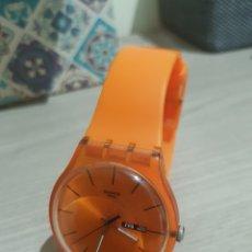 Relojes - Swatch: RELOJ SWATCH SWISS NARANJA TRASLUCIDO SR1130SW. Lote 176238992
