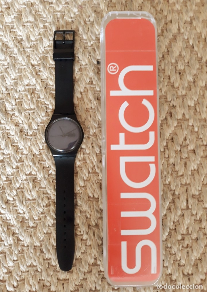 Relojes - Swatch: Reloj Swatch Modelo BLACK REBEL. Muy buen estado - Foto 3 - 176565502