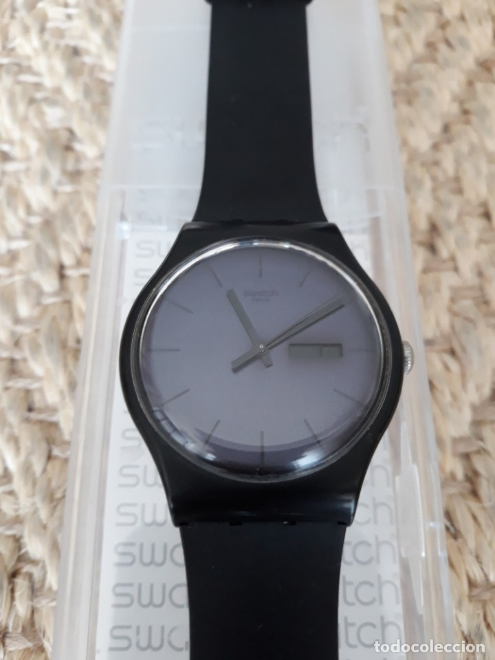 Relojes - Swatch: Reloj Swatch Modelo BLACK REBEL. Muy buen estado - Foto 4 - 176565502