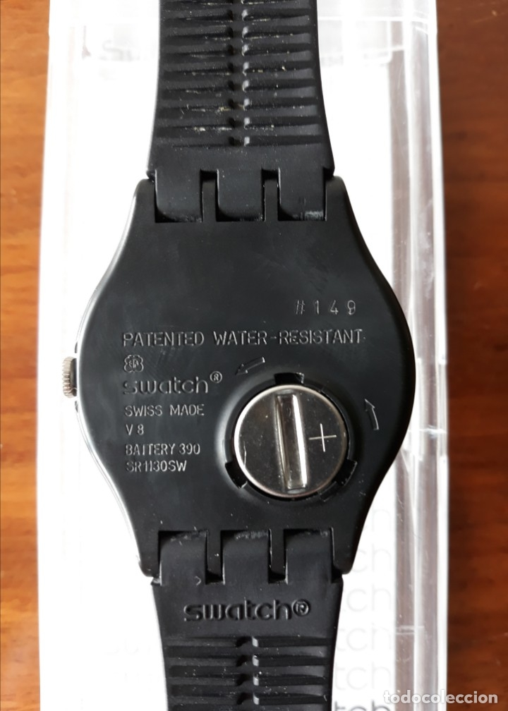 Relojes - Swatch: Reloj Swatch Modelo BLACK REBEL. Muy buen estado - Foto 7 - 176565502