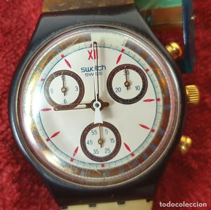 Relojes - Swatch: PAREJA DE RELOJES DE PULSERA. CUARZO. SWATCH SWISS. AÑOS 90. - Foto 4 - 182488047
