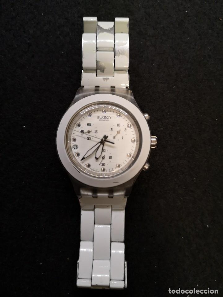 RELOJ SWATCH IRONY DIAPHANE BLANCO (Relojes - Relojes Actuales - Swatch)