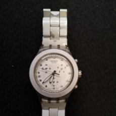 Relojes - Swatch: RELOJ SWATCH IRONY DIAPHANE BLANCO. Lote 183189422