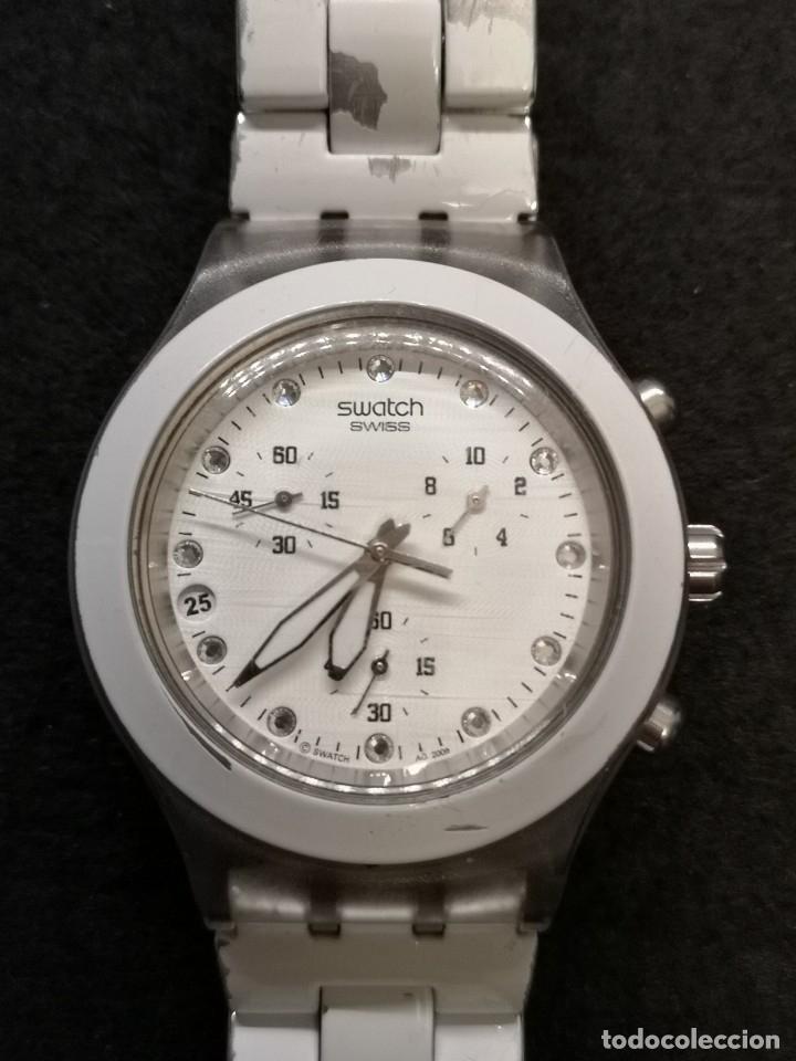 Relojes - Swatch: reloj swatch irony diaphane blanco - Foto 2 - 183189422