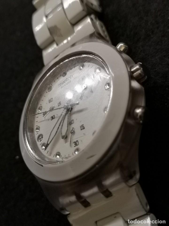 Relojes - Swatch: reloj swatch irony diaphane blanco - Foto 3 - 183189422