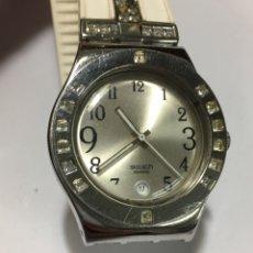 Relojes - Swatch: RELOJ SWATCH IRONY ACERO DE MUJER CON PIEDRAS. Lote 183325127