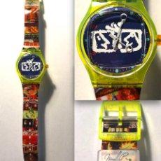 Relojes - Swatch: RELOJ SWATCH - ZAPPING - NAM JUNE PAIK - EDICIÓN LIMITADA - FUNCIONANDO NUEVO / N-9430. Lote 184114246