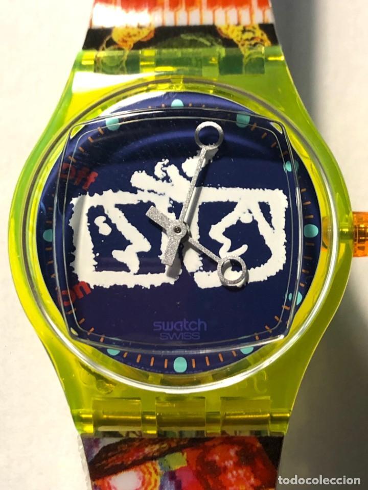 Relojes - Swatch: RELOJ SWATCH - ZAPPING - NAM JUNE PAIK - EDICIÓN LIMITADA - FUNCIONANDO NUEVO / N-9430 - Foto 2 - 184114246