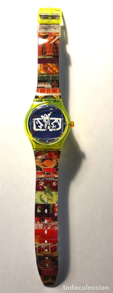 Relojes - Swatch: RELOJ SWATCH - ZAPPING - NAM JUNE PAIK - EDICIÓN LIMITADA - FUNCIONANDO NUEVO / N-9430 - Foto 3 - 184114246