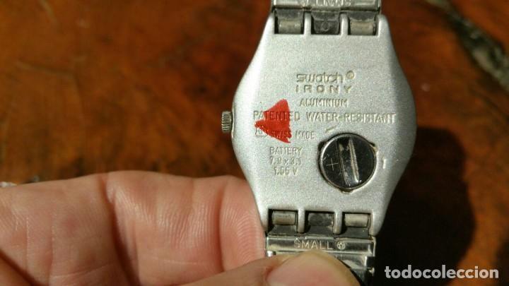 Relojes - Swatch: RELOJ DE SEÑORA SWATCH IRONY CORREA METALICA SWATCH - FUNCIONANDO - Foto 6 - 188686777