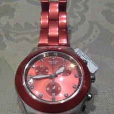 Relojes - Swatch: RELOJ SWATCH TRONY DIAPHANE BACK ALUMINIUM WATER RESISTANT NUEVO A ESTRENAR.SWISS MADE. Lote 189180293