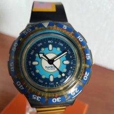 Relojes - Swatch: RELOJ UNISEX SWATCH SCUBA CUARZO CON MÁQUINA ETA 200 METROS ORIGINAL, CORREA SILICONA VARIOS COLORES. Lote 190820677
