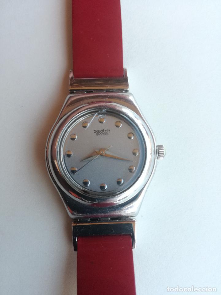Relojes - Swatch: RELOJ DE MUJER SWATCH IRONY CORREA DE PIEL LARGA DOBLE PULSERA - FUNCIONANDO - Foto 3 - 193445703