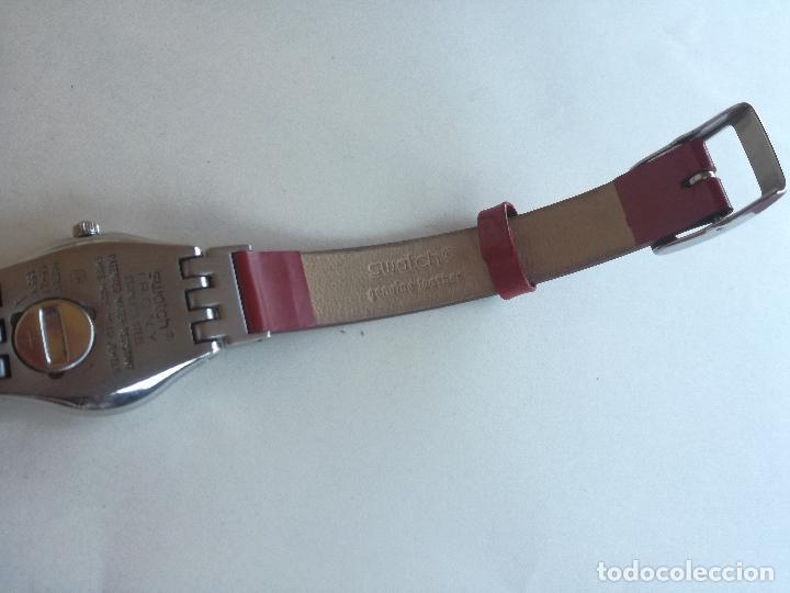 Relojes - Swatch: RELOJ DE MUJER SWATCH IRONY CORREA DE PIEL LARGA DOBLE PULSERA - FUNCIONANDO - Foto 6 - 193445703
