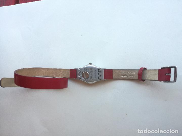 Relojes - Swatch: RELOJ DE MUJER SWATCH IRONY CORREA DE PIEL LARGA DOBLE PULSERA - FUNCIONANDO - Foto 7 - 193445703