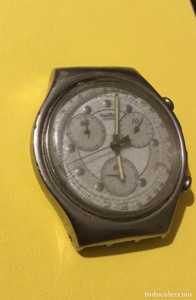 Relojes - Swatch: Antiguo reloj swatch espectacular no funciona - Foto 2 - 194098113