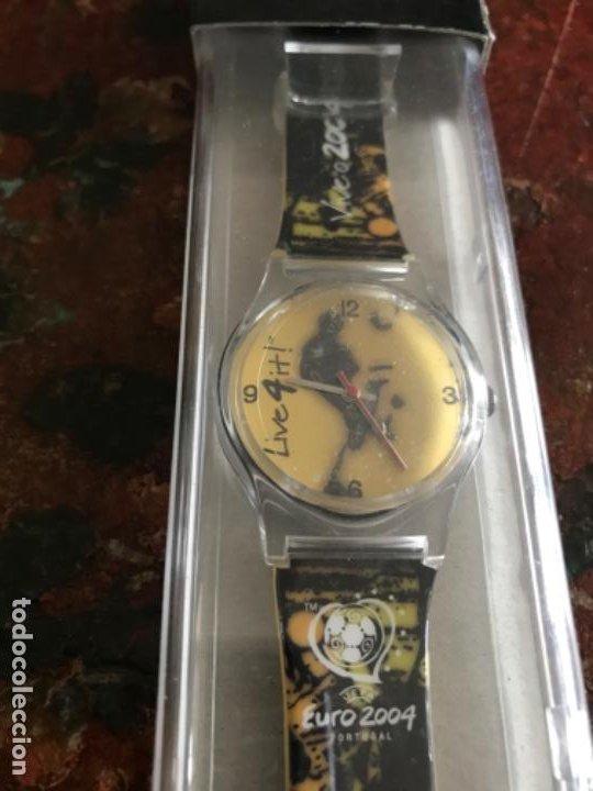 RELOJ TIPO SWATCH CONMEMORATIVO UEFA EURO 2004. PORTUGAL. LICENCIA OFICIAL. SIN ESTRENAR (Relojes - Relojes Actuales - Swatch)