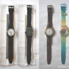 Relojes - Swatch: LOTE DE 4 RELOJES SWATCH VINTAGE PARA COLECCIÓN (VER FOTOS ADICIONALES). Lote 199950871