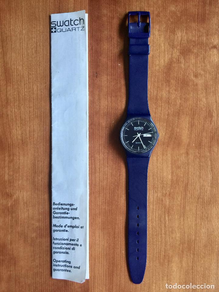 Relojes - Swatch: SWATCH GN700 RELOJ DE PULSERA VINTAGE DE 1983 – SUIZO ORIGINAL, DE LA PRIMERA SERIE – 7 AGUJEROS - Foto 2 - 201249562