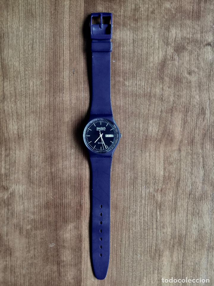 Relojes - Swatch: SWATCH GN700 RELOJ DE PULSERA VINTAGE DE 1983 – SUIZO ORIGINAL, DE LA PRIMERA SERIE – 7 AGUJEROS - Foto 3 - 201249562