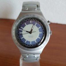 Relojes - Swatch: RELOJ CABALLERO (VINTAGE) CUARZO SWATCH CON CORREA DE ALUMINIO ORIGINAL, DIFÍCIL CONSEGUIR.. Lote 202648821