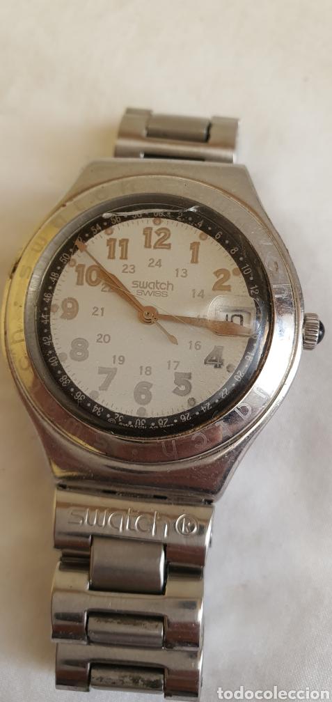 Relojes - Swatch: RELOJ SWATCH CUARZO .MIDE 35MM DIAMETRO SIN CONTAR LA CORONA - Foto 3 - 206127262
