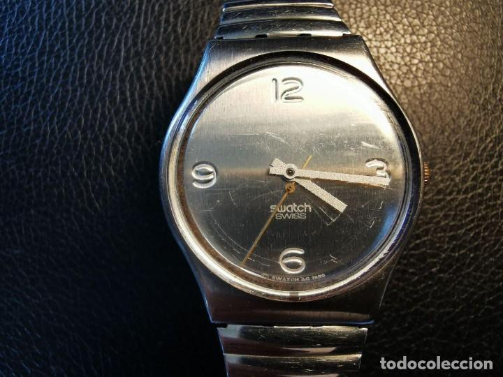 RELOJ DE PULSERA SWATCH SWISS, PULSERA ANATOMICA METALICA - FUNCIONANDO (Relojes - Relojes Actuales - Swatch)