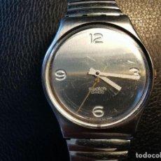 Relojes - Swatch: RELOJ DE PULSERA SWATCH SWISS, PULSERA ANATOMICA METALICA - FUNCIONANDO. Lote 206352810