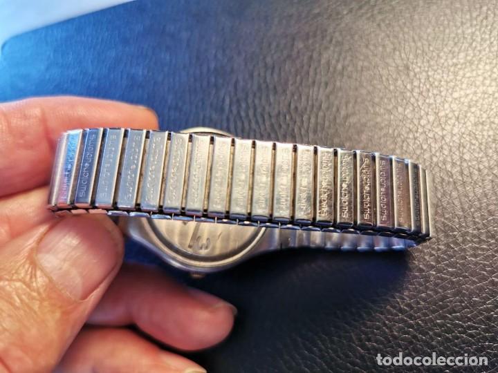 Relojes - Swatch: RELOJ DE PULSERA SWATCH SWISS, PULSERA ANATOMICA METALICA - FUNCIONANDO - Foto 5 - 206352810