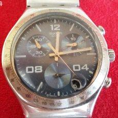 Relojes - Swatch: RELOJ SWATCH SWIS CHRONO CUARZO Y CALENDARIO LA CORREA DE ACERO.MIDE 40CM DIAMETRO. Lote 206442707