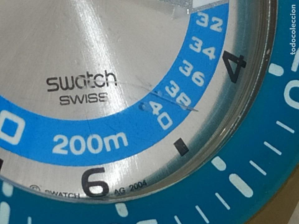 Relojes - Swatch: RELOJ SWATCH SWISS BLUE OXYGEN? CR 2025 3 V AG 2004 ÚNICO? - Foto 2 - 207344331