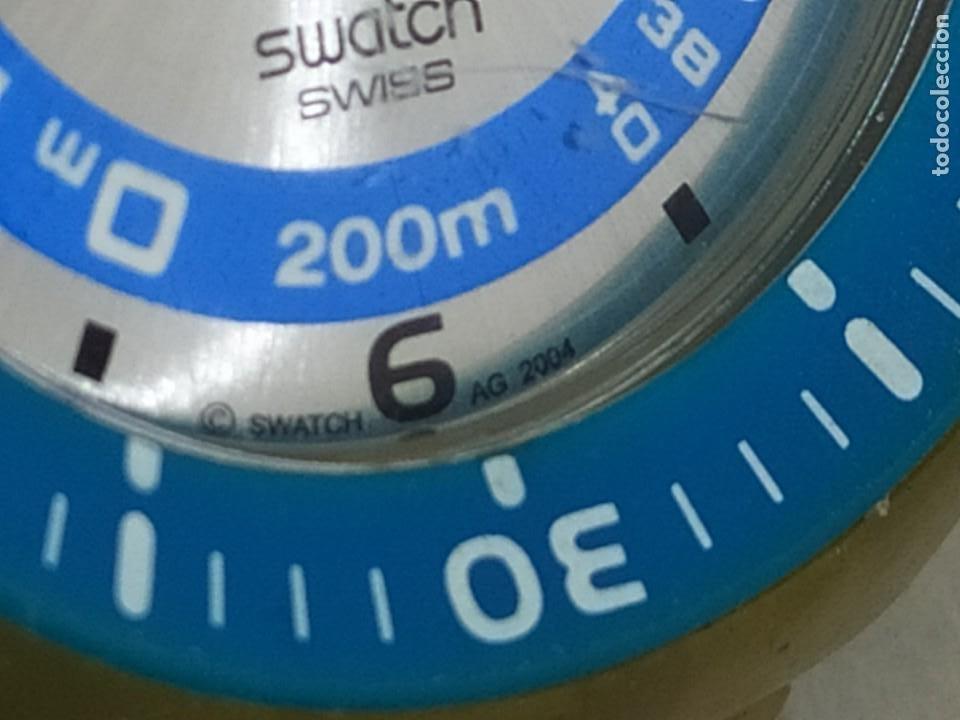 Relojes - Swatch: RELOJ SWATCH SWISS BLUE OXYGEN? CR 2025 3 V AG 2004 ÚNICO? - Foto 4 - 207344331