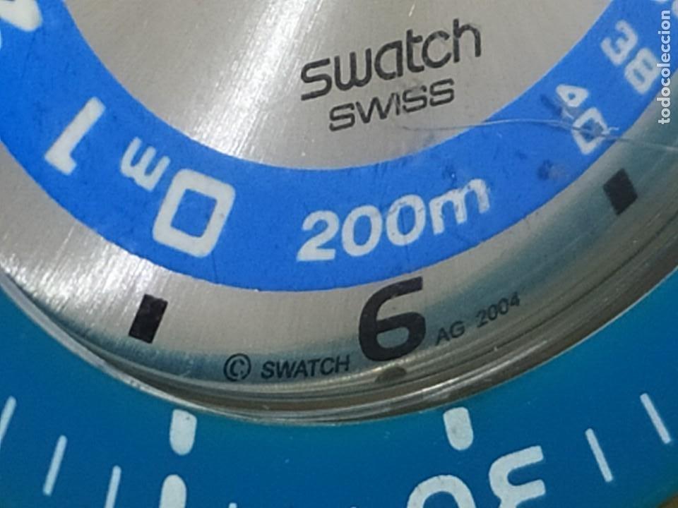 Relojes - Swatch: RELOJ SWATCH SWISS BLUE OXYGEN? CR 2025 3 V AG 2004 ÚNICO? - Foto 21 - 207344331