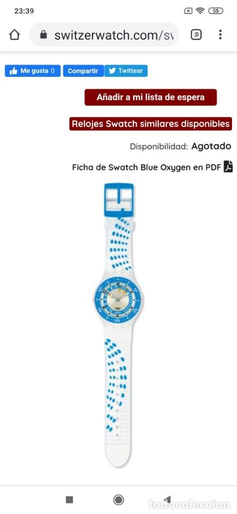 Relojes - Swatch: RELOJ SWATCH SWISS BLUE OXYGEN? CR 2025 3 V AG 2004 ÚNICO? - Foto 30 - 207344331