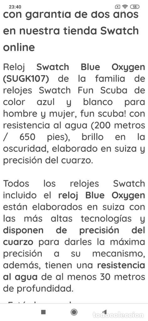 Relojes - Swatch: RELOJ SWATCH SWISS BLUE OXYGEN? CR 2025 3 V AG 2004 ÚNICO? - Foto 31 - 207344331