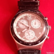 Relojes - Swatch: RELOJ SWATCH IRONY CHRONO CUARZO .MIDE 40 MM DIAMETRO LA CORREA DE PIEL. Lote 209923248