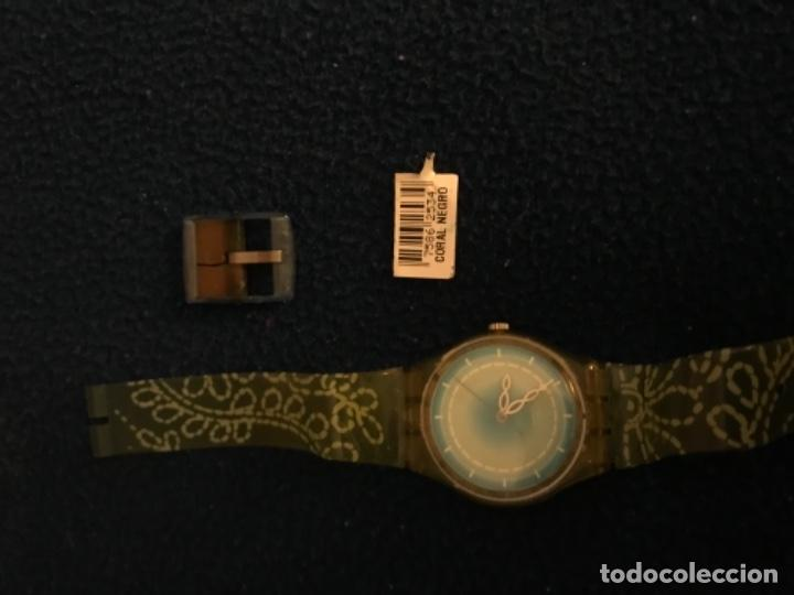 RELOJ SWATCH MODELO CORAL NEGRO EXCLUSIVO CUNA AÑO 2000 MUY RARO !!! (Relojes - Relojes Actuales - Swatch)