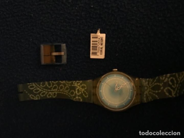 Relojes - Swatch: RELOJ SWATCH MODELO CORAL NEGRO EXCLUSIVO CUNA AÑO 2000 MUY RARO !!! - Foto 2 - 212148366