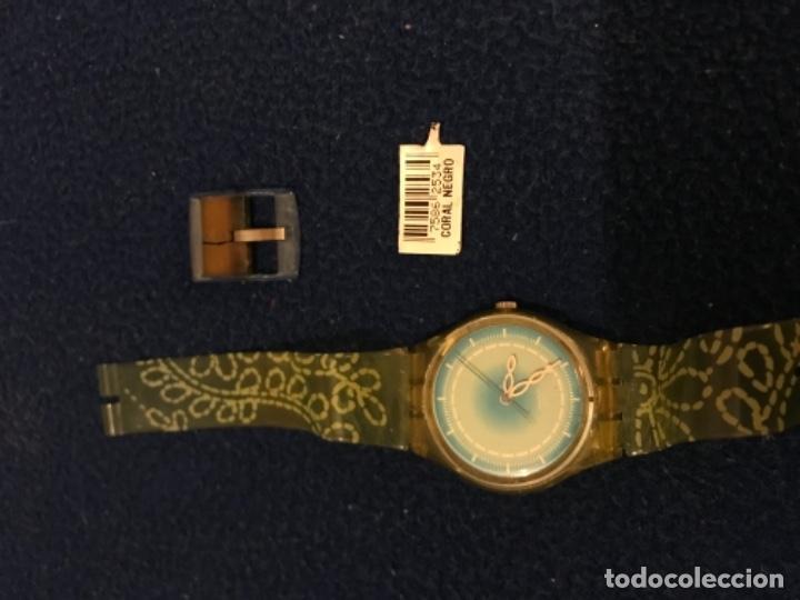 Relojes - Swatch: RELOJ SWATCH MODELO CORAL NEGRO EXCLUSIVO CUNA AÑO 2000 MUY RARO !!! - Foto 3 - 212148366
