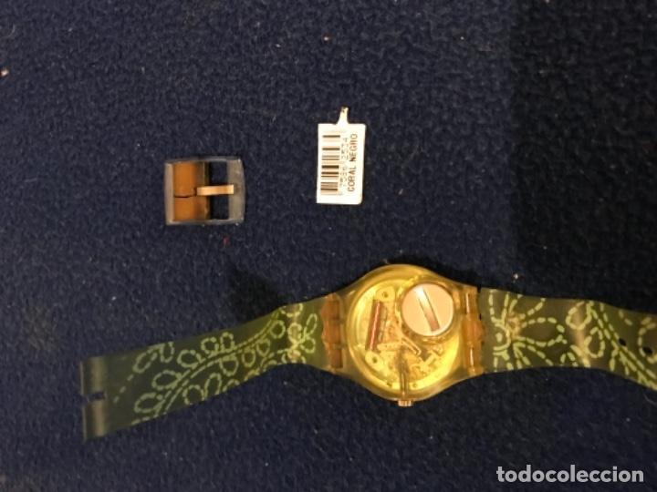 Relojes - Swatch: RELOJ SWATCH MODELO CORAL NEGRO EXCLUSIVO CUNA AÑO 2000 MUY RARO !!! - Foto 7 - 212148366
