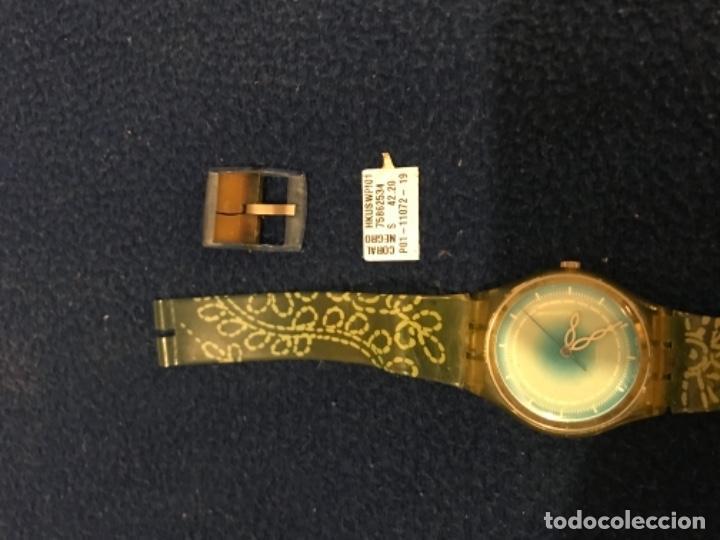 Relojes - Swatch: RELOJ SWATCH MODELO CORAL NEGRO EXCLUSIVO CUNA AÑO 2000 MUY RARO !!! - Foto 11 - 212148366