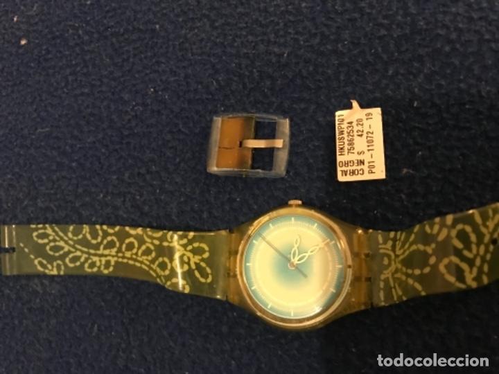 Relojes - Swatch: RELOJ SWATCH MODELO CORAL NEGRO EXCLUSIVO CUNA AÑO 2000 MUY RARO !!! - Foto 12 - 212148366