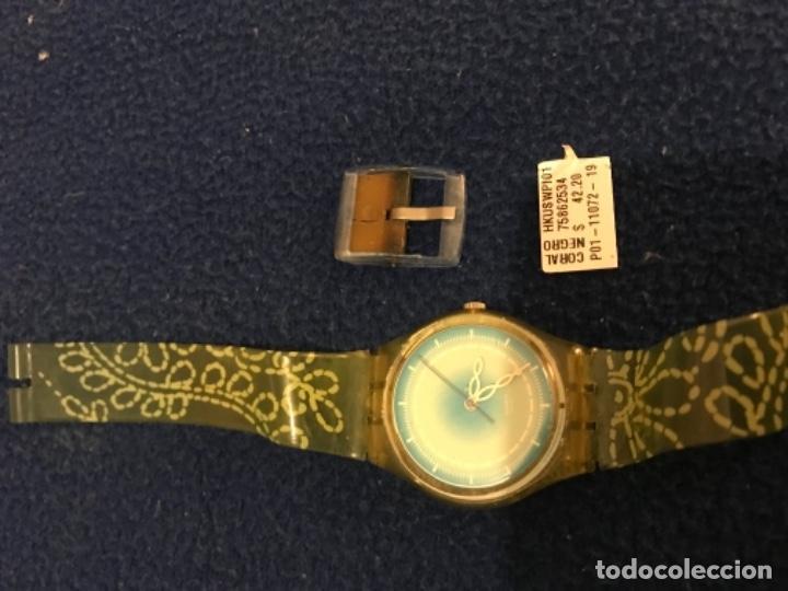 Relojes - Swatch: RELOJ SWATCH MODELO CORAL NEGRO EXCLUSIVO CUNA AÑO 2000 MUY RARO !!! - Foto 13 - 212148366